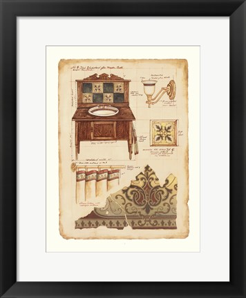 Framed Designer Baths II Print