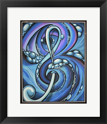 Framed Sense Of Music Print