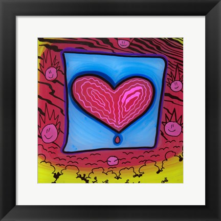 Framed Heart 10 Print