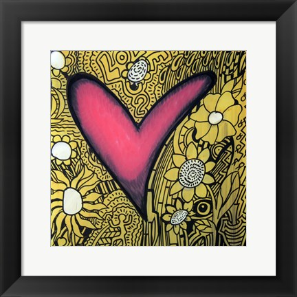 Framed Heart 11 Print
