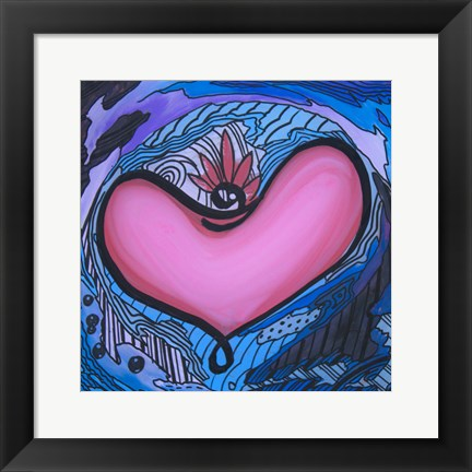 Framed Heart 12 Print