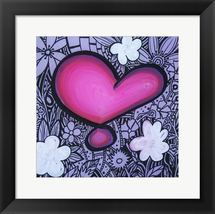 Framed Heart 13 Print