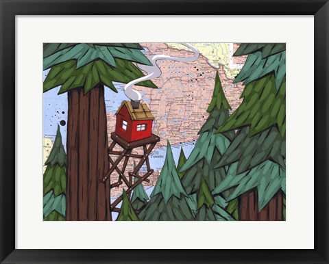 Framed Getting Away From It All Print