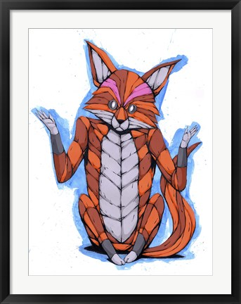 Framed Indifferent Fox Print