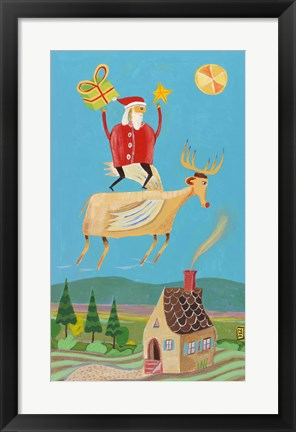 Framed Santa And Red Print
