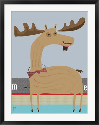 Framed Moose 2 Print