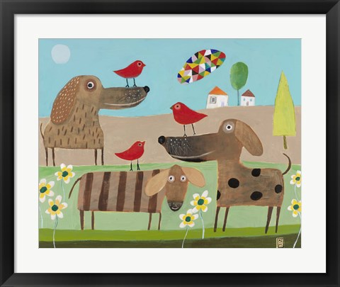 Framed Bird Dogs Print