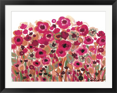 Framed Brightly Blooming Print