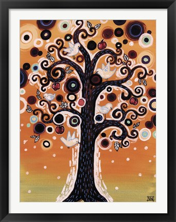 Framed Tree Whimsy And Doves Print