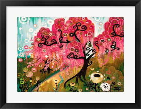 Framed Cherry Blossom Willow Print