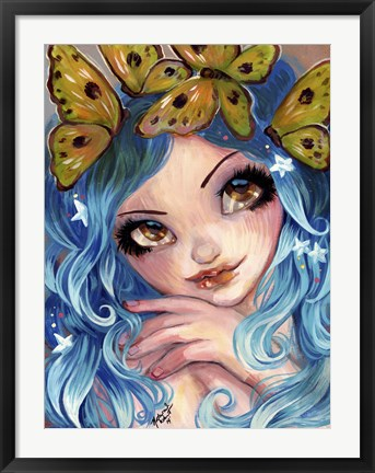 Framed Crown Of Butterflies Print