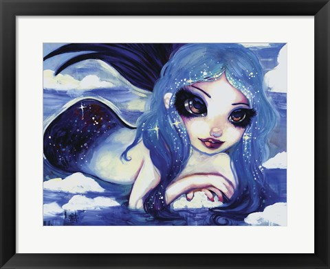 Framed Ice Mermaid Print