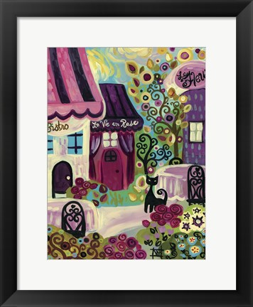 Framed La Vie En Rose Print