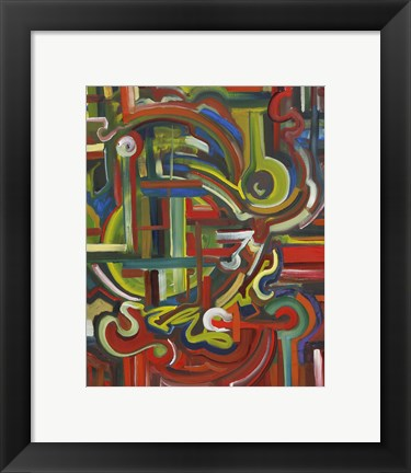 Framed Abstract 17 Print