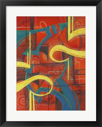 Framed Abstract 24 Print