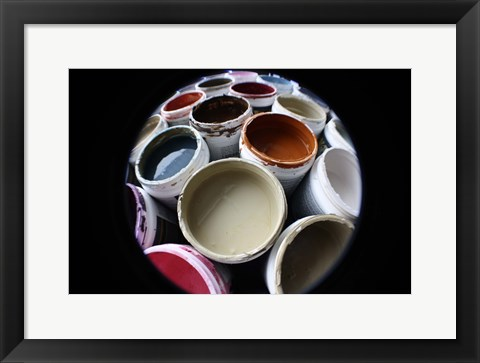 Framed Color Cups & Tape 10 Print