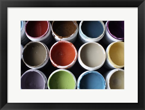 Framed Color Cups & Tape 21 Print