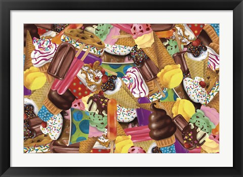 Framed Ice Cream Collage Print
