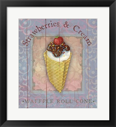 Framed Parlor Ice Cream III Print