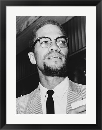 Framed Malcolm X at Queens Court Print