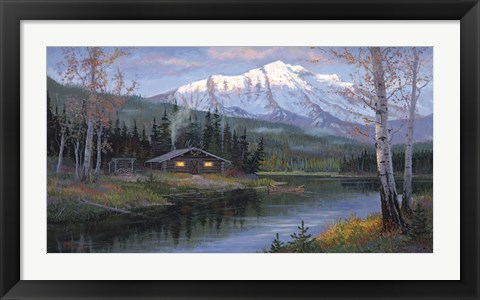 Framed Home in the Wilderness Print