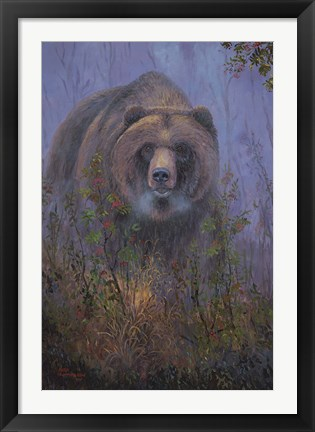 Framed Mountain Ash Grizzly Print