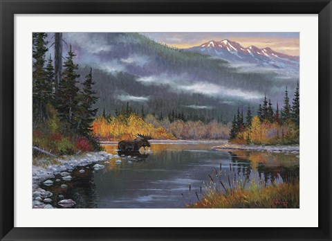Framed South Fork Moose Print
