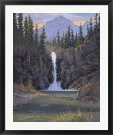 Framed Running Eagle Falls Print