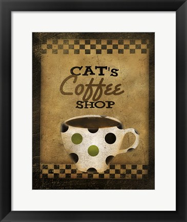 Framed Cats Coffee Shop Print