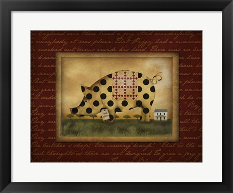 Framed Spotted Pig Print
