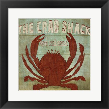 Framed Crab Shack Print