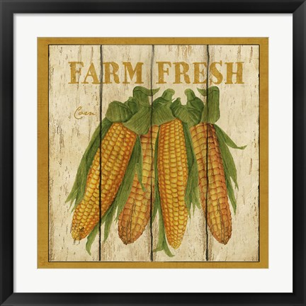 Framed Farm Fresh Corn Print