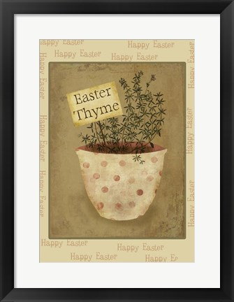 Framed Single Easter Thyme Xl Print