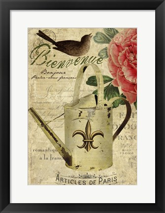 Framed French Welcome Print