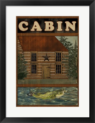 Framed Welcome To The Cabin Print