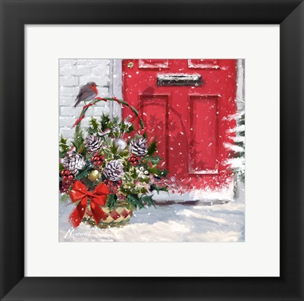 Framed Christmas Basket Print