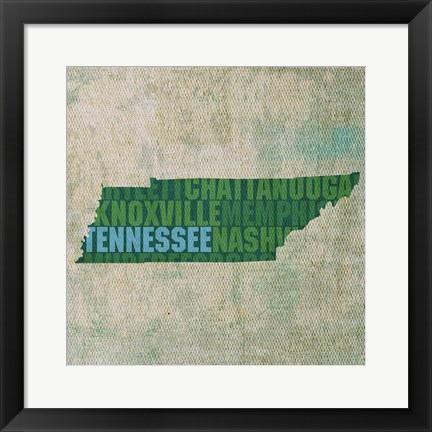 Framed Tennessee State Words Print