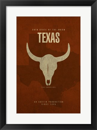 Framed Texas Poster Print