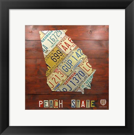 Framed Georgia Map Print