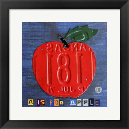 Framed Apple Print