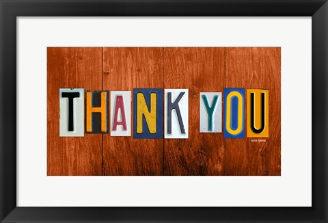 Framed Thank You Print