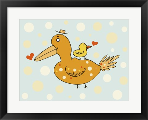 Framed Bird And Baby Print
