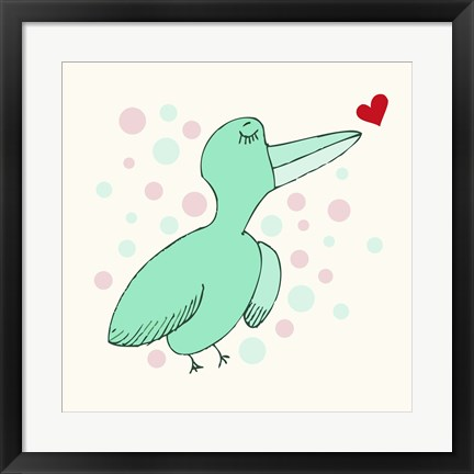 Framed Dreamy Love Bird Print