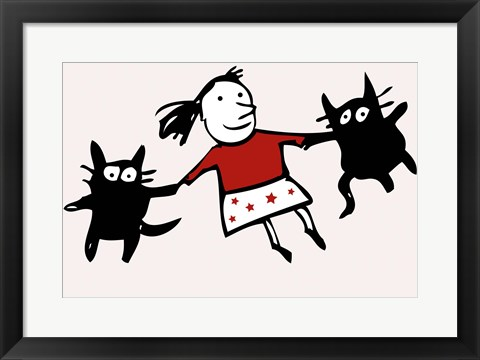 Framed Dancing Cats Print