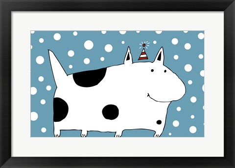 Framed Snow Dog Print