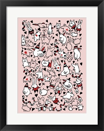 Framed Party Animals Print