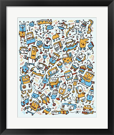 Framed Rocking Robots Print