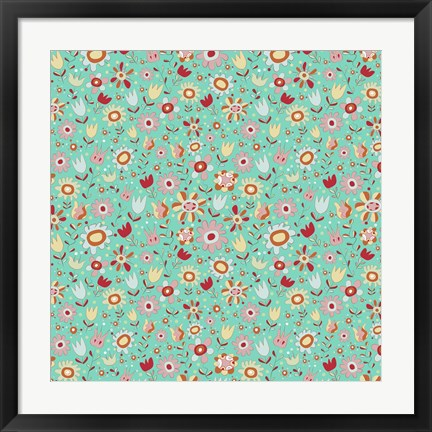 Framed Gorgeous Girly Flowers Print