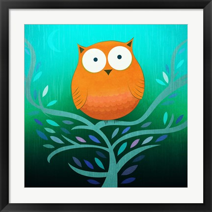 Framed Night Owl Print