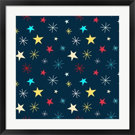 Framed Sweet Stars Pattern Print